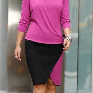 Cato wrap pencil skirt women's size 8